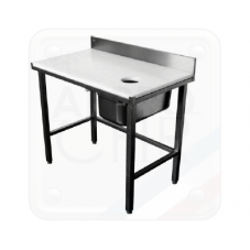 TABLE DE PREPARATION POISSONNERIE - DESSUS EN POLYETHYLENE Accueil SBG-STPP1X6-25