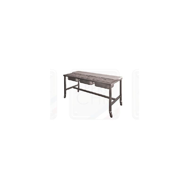 TABLE DE PREPARATION POUR PIZZAS EN INOX AISI 304 Accueil 132302